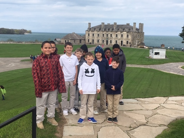 Old Fort Niagara Fun in 4th Grade