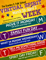 Here We Go! Virtual Spirit Week @ Stanley G. Falk School